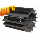 Radiator - wymiennik cieplny 110/250mm szary