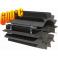 Radiator - wymiennik cieplny 130/250mm szary