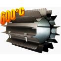 Radiator - wymiennik cieplny 120/250mm czarny