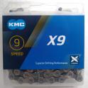 Łańcuch KMC X9 Silver/Gray Box